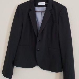 Calvin Klein suit with sleeveless blouse